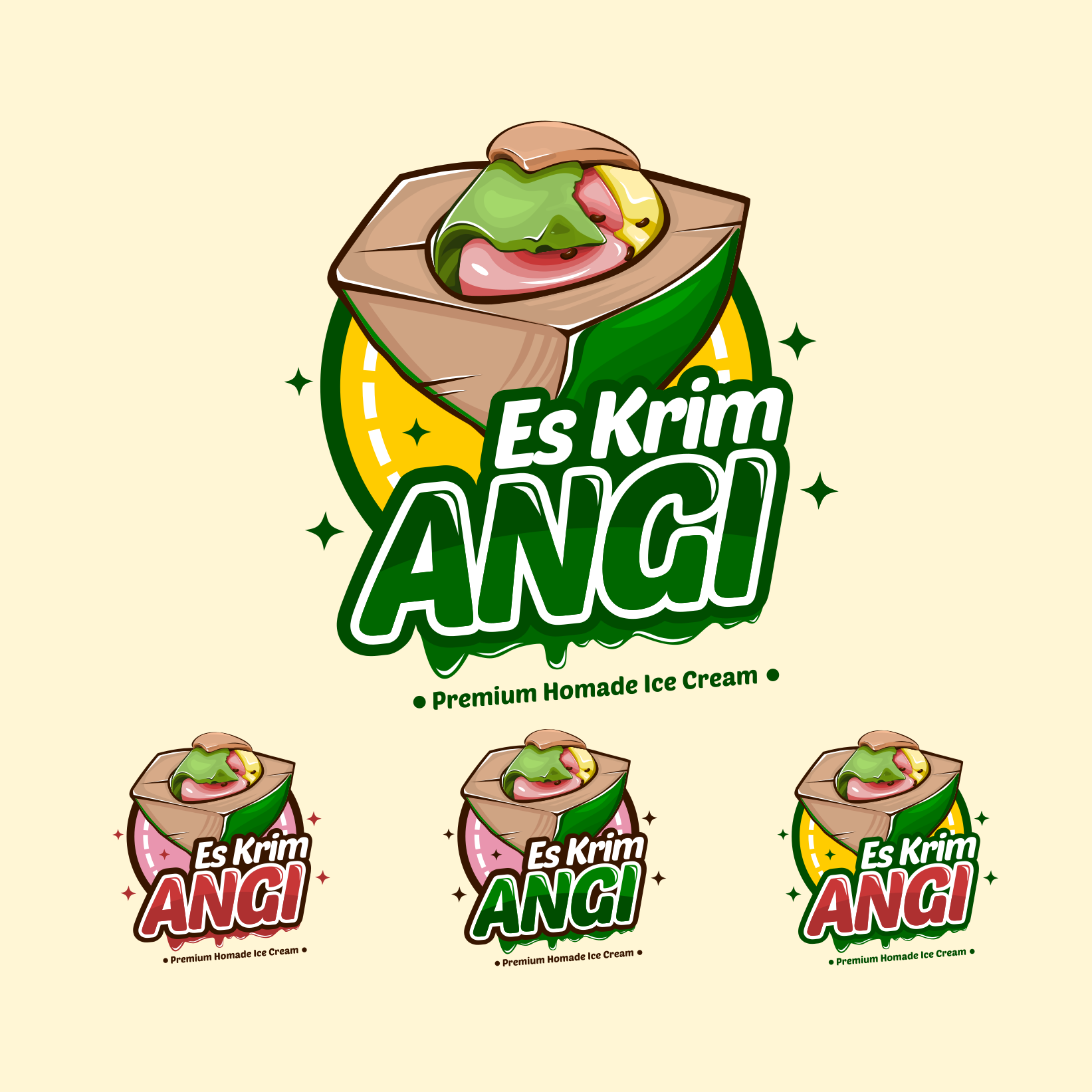 Sribu Logo Design Desain Logo Untuk Es Krim Angi