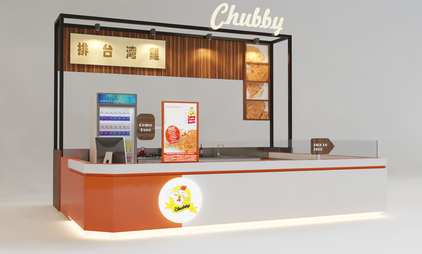 Sribu: Booth Design - Design Booth untuk Food Kiosk Mall (Is