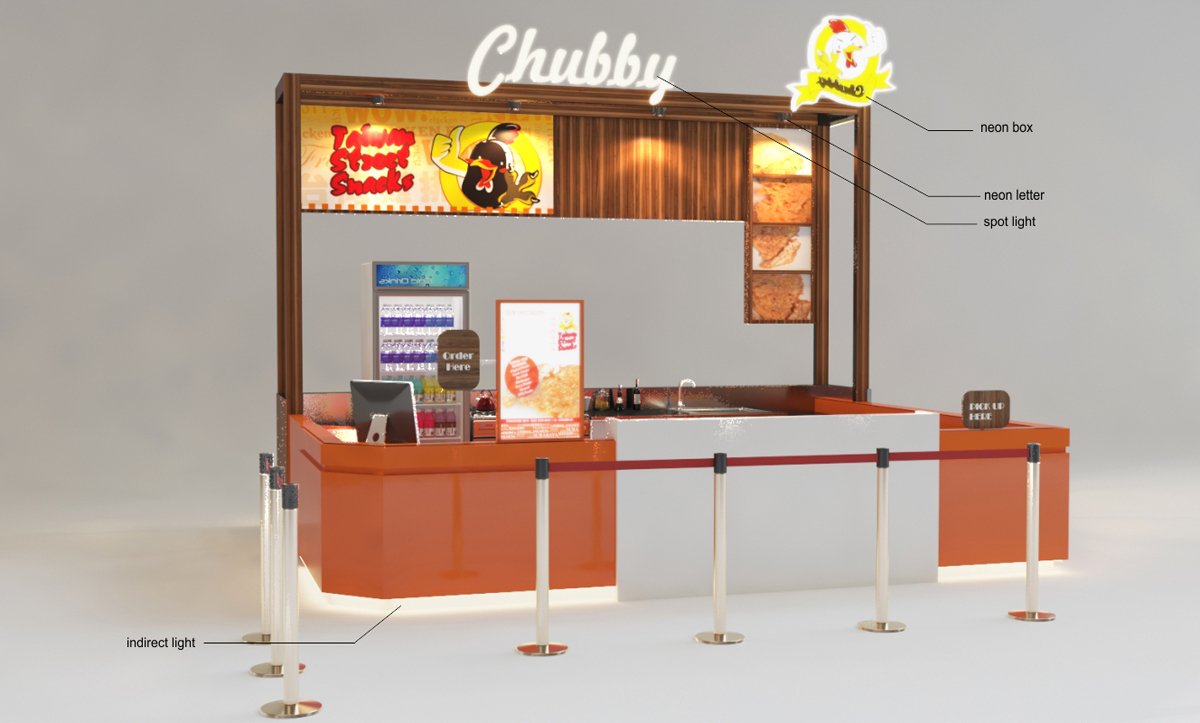 Sribu: Booth Design - Design Booth untuk Food Kiosk Mall (Is