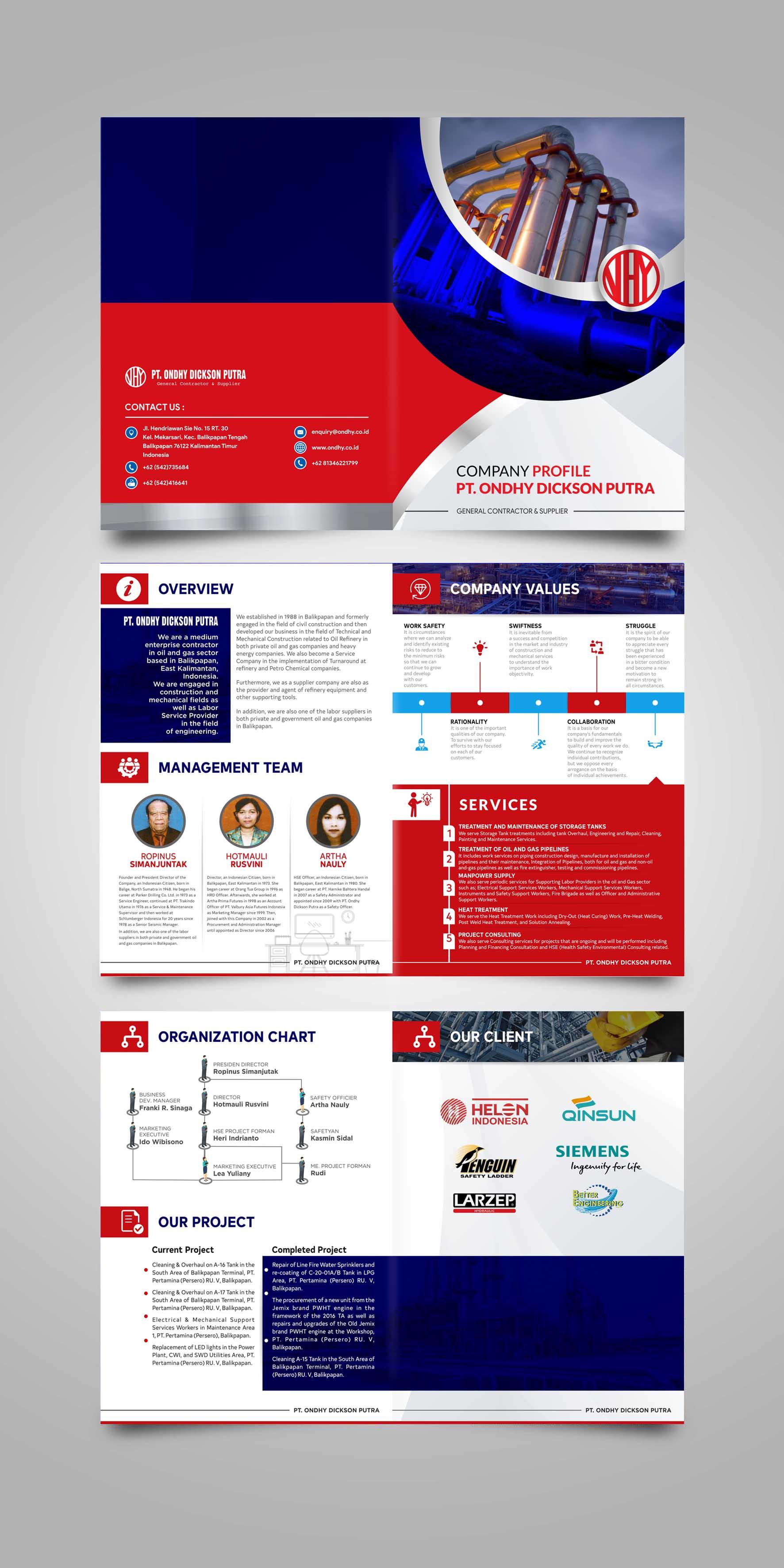 Sribu: Company Profile Design - Design Company Profile Ondhy