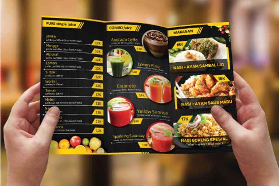 Brochure Design Services for Bee's Kitchen