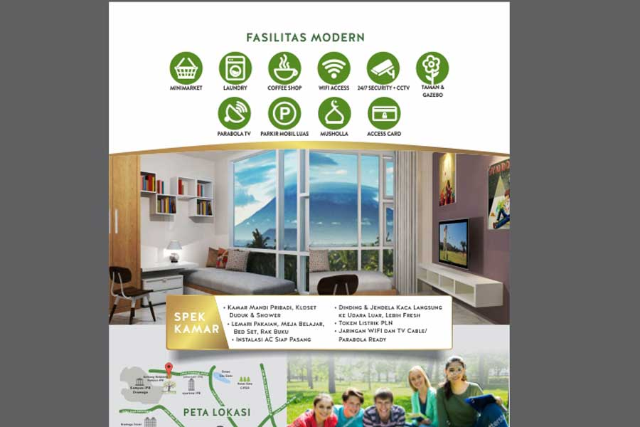 Brochure Design Services for Boarding Houses Strata Title The Green Student Village