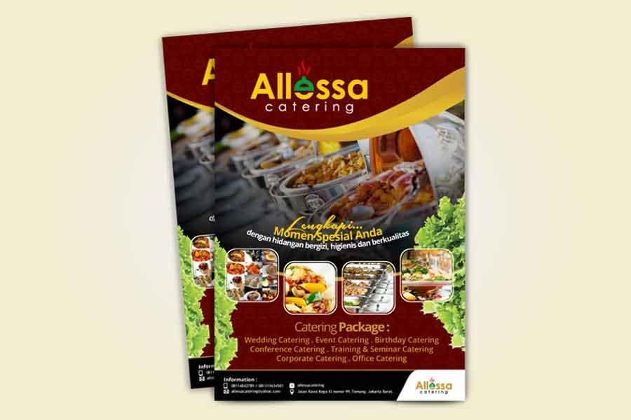 Desain Brosur Allesa Catering
