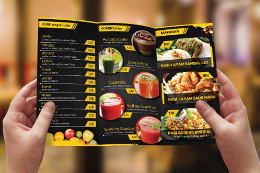 Jasa Desain Brosur Makanan Dan Minuman Online Sribu