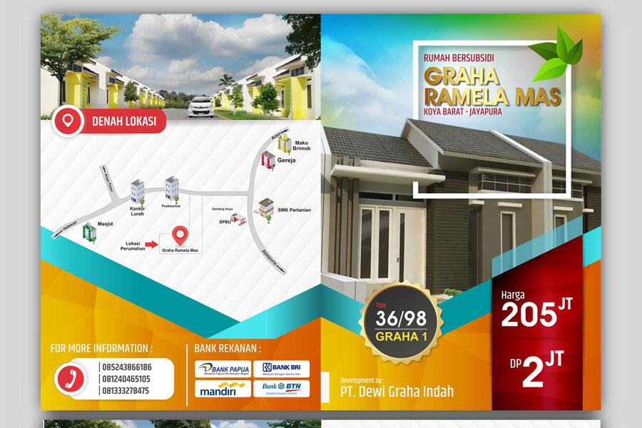Desain Brosur untuk Graha Ramela Mas