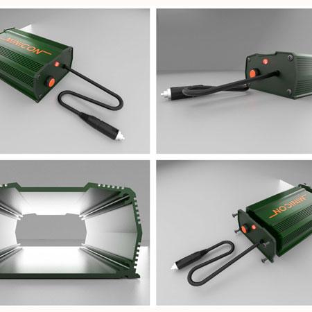 Design Produk Small Aluminium Extrusion Chasis for Car Audio