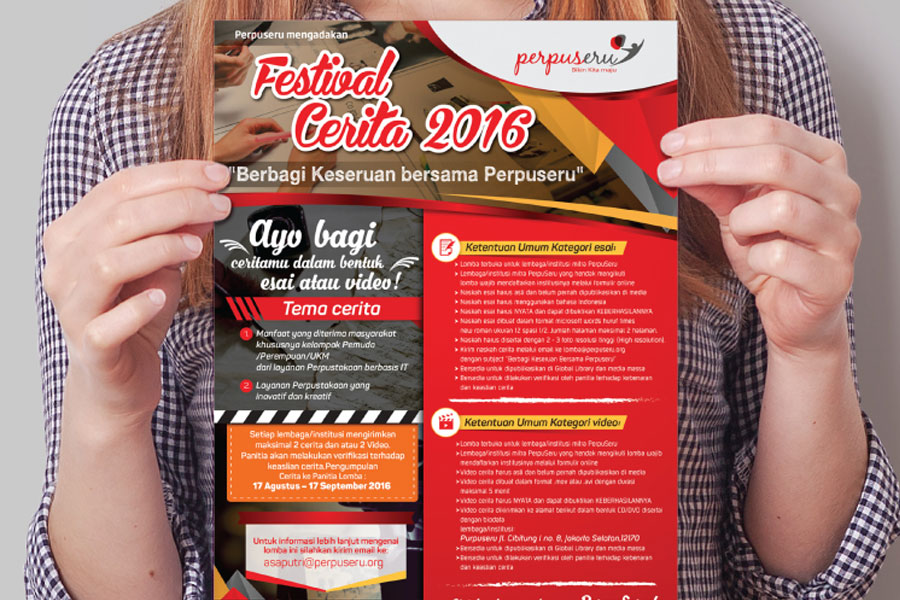 Design Flyers - Lomba Esai & Video Coca Cola Foundation Indonesia