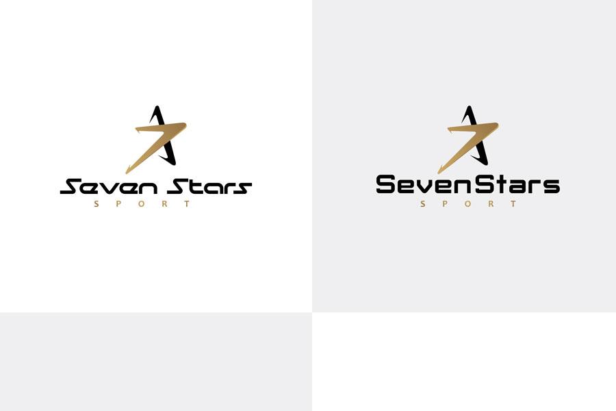 Design Logo untuk Produk Pakaian Olahraga Seven Stars