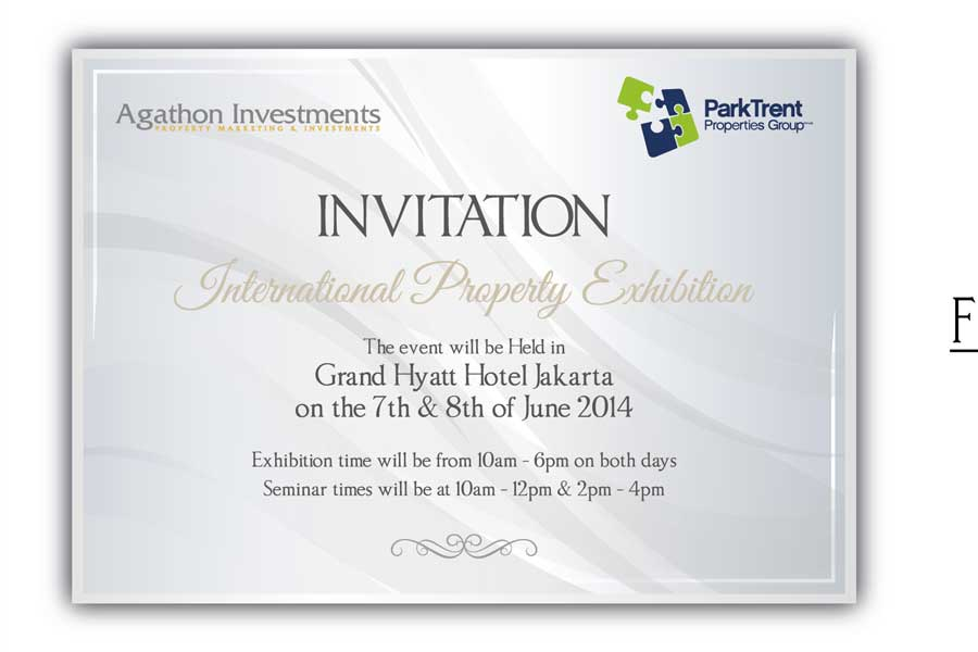 Invitation Design for International Property Exhibition