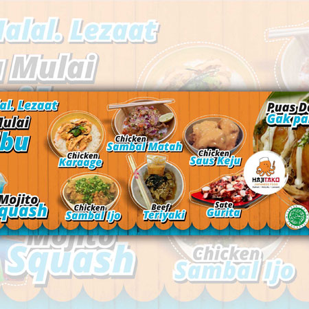 Spanduk Menu Makanan Cdr - desain banner kekinian