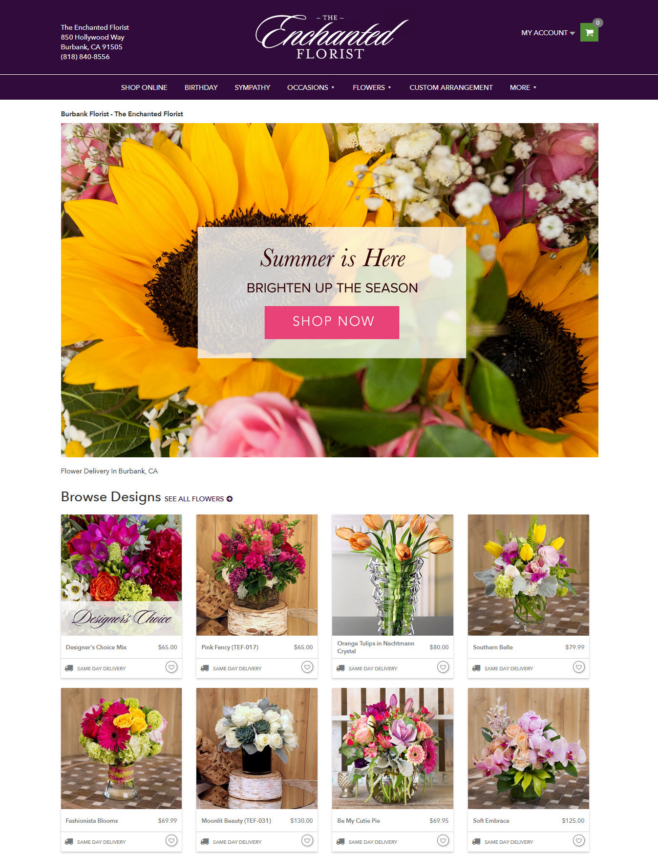 jasa desain web untuk florist